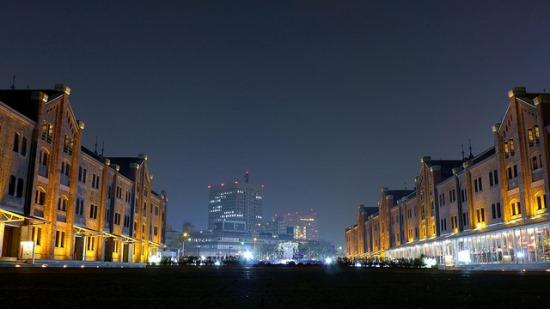 Suasana Malam Yokohama Akarenga Soko