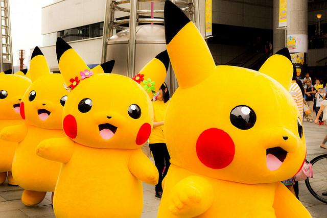 Suasana Parade Pikachu di Yokohama