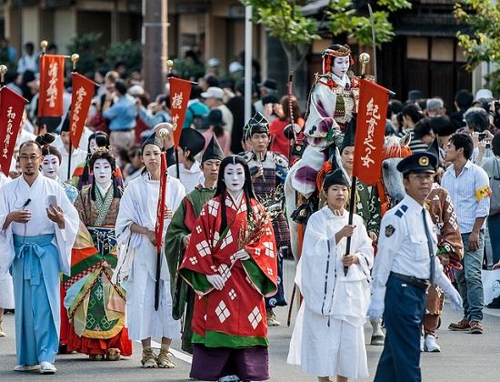 Suasana Parade dalam Jidai Matsuri