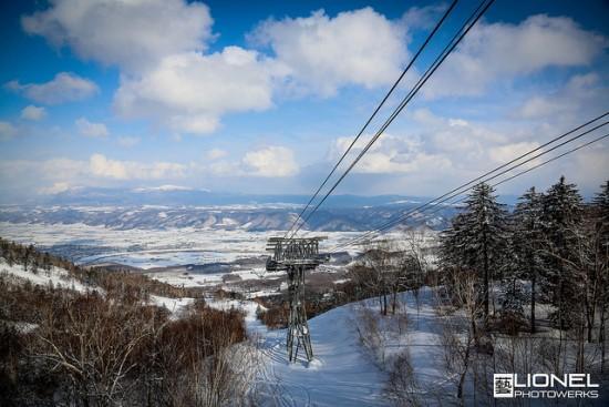 Suasana Resort Ski Furano dari gondola