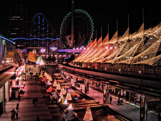 Suasana Tokyo Dome di musim dingin