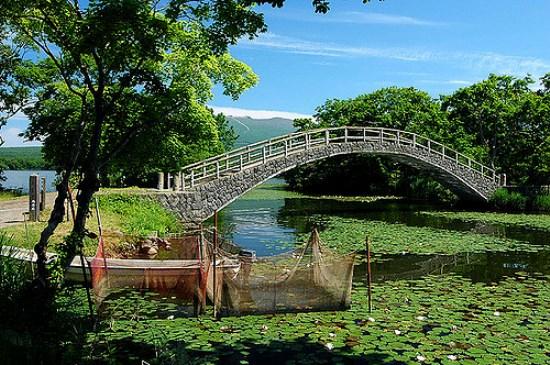 Suasana musim panas di Taman Onuma