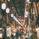 Suasana nishiki market di Kyoto