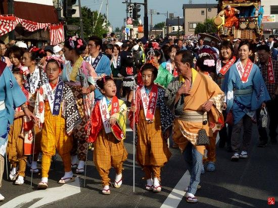 Suasana parade dalam festival kota Kawagoe