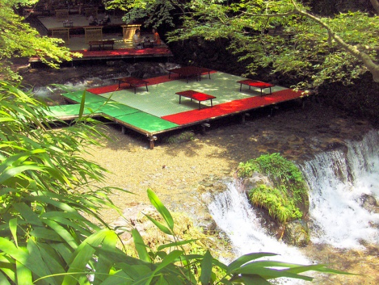 Suasana restoran dekat Kifune Jinja