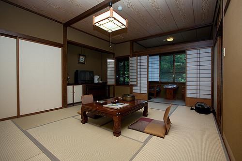 Suasana ruangan dalam Ryokan