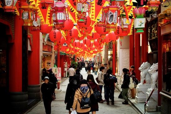 Pecinan di Jepang Nagasaki Chinatown
