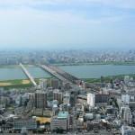 Sungai Yodogawa dari Umeda Sky Building
