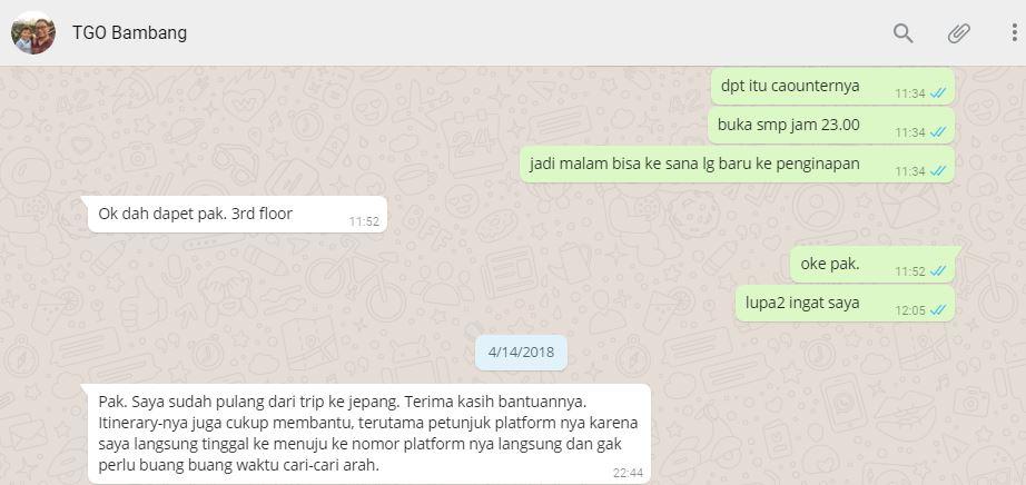 Testimoni Tour Guide Online Bambang