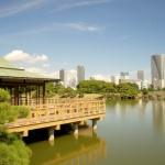 Taman Hama Rikyu di Tokyo