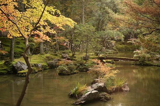 Taman Kuil Kokedera di musim gugur