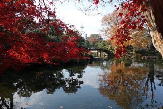 Taman Shoseien di dekat Kuil Honganji Kyoto
