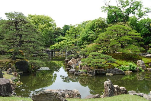 Taman di Istana Nijo Kyoto
