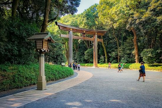 Taman di Meiji Jingu Tokyo