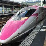 Tampak depan Gerbong Hello Kitty Shinkansen