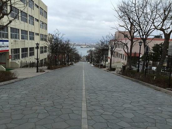 Tanjakan Hachimanzaka di Motomachi Hakodate