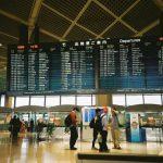 Terminal keberangkatan di Narita Airport