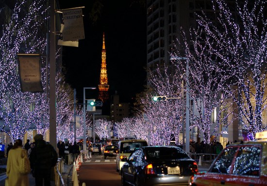 Tokyo Tower dari Roppongi Hills