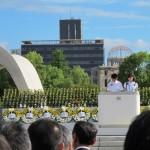 Upacara di Hiroshima Memorial Park