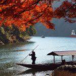 Wisata Hozu River Arashiyama di musim gugur
