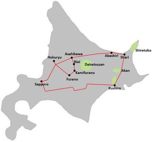 Hokkaido shiretoko kushiro