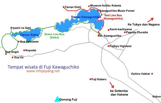 jalur bus retro di fuji kawaguchiko