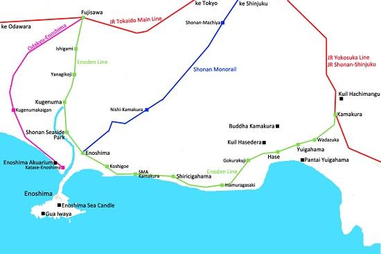 jalur kereta enoden Jepang kamakura-enoshima