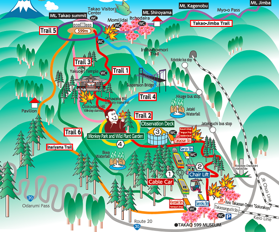 jalur pendakian di Gunung Takao