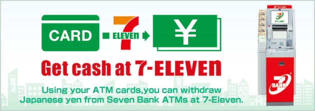 Mengambil uang di seven eleven