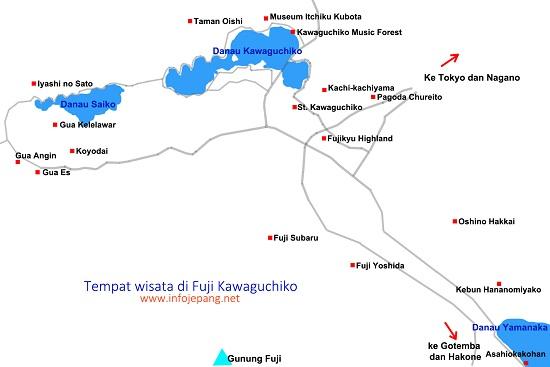 objek wisata di fuji kawaguchiko