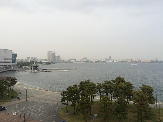 pemandangan Teluk Tokyo dari Museum Ramen Yokohama