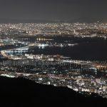 pemandangan malam gunung rokko