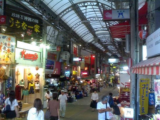tempat jajanan terkenal Heiwa Dori Naha Okinawa