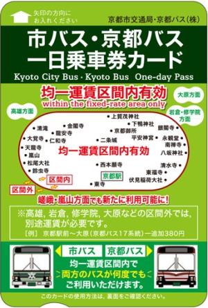 Tiket terusan bus kota Kyoto