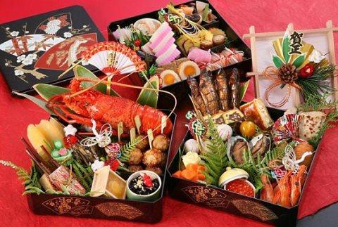 Tradisi tahun baru - Makan osechi